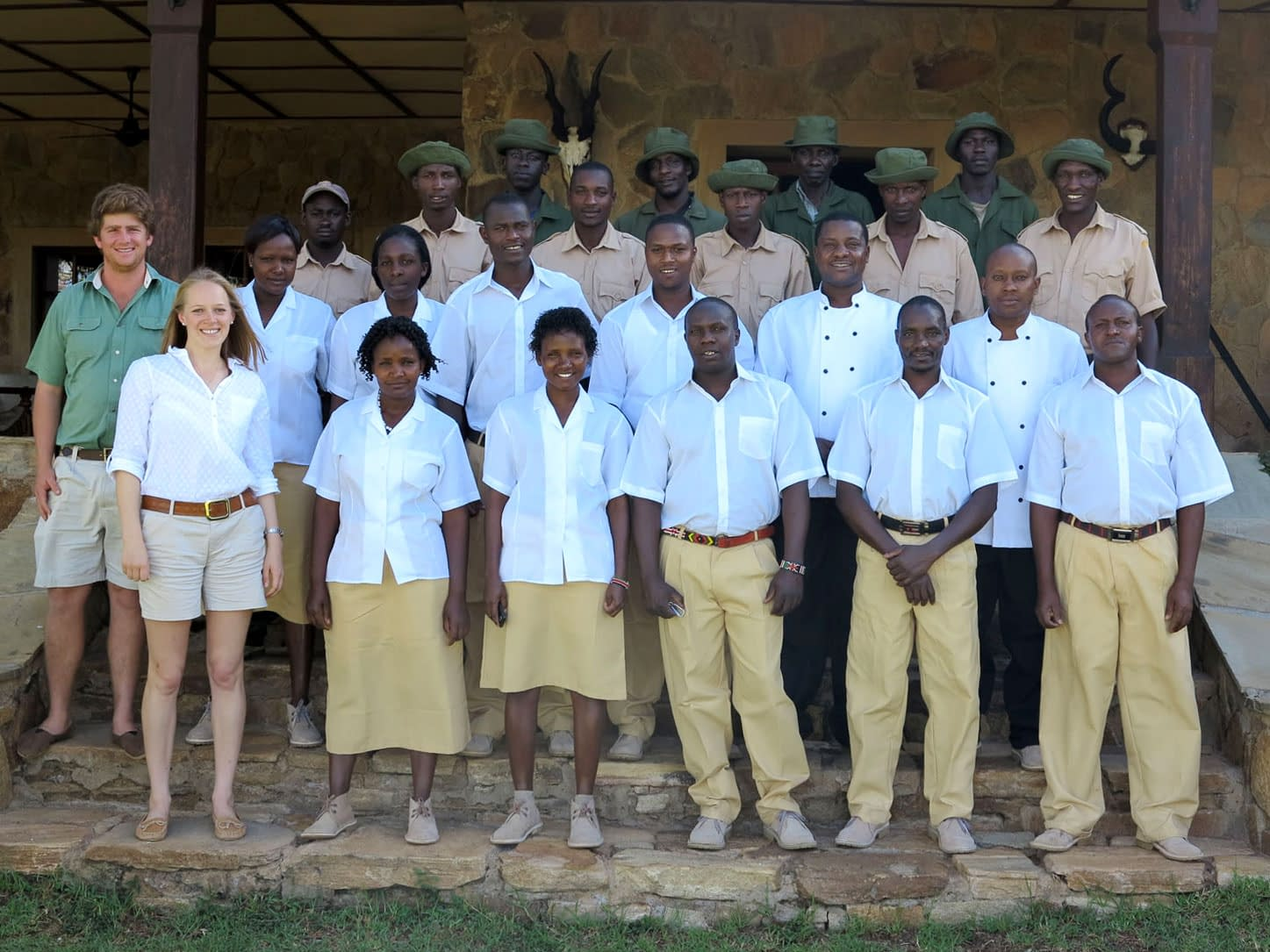 The Sosian team photo of some of the Guides, Chefs and Security staff
